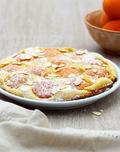 Clafoutis aux abricots et amandes
