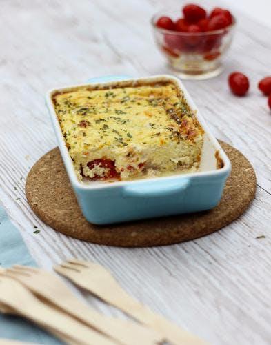 Flan au thon et fromage frais