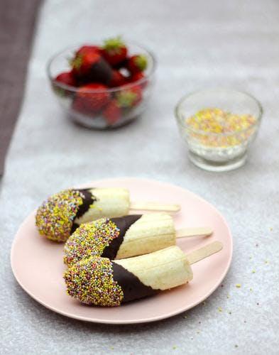 Banane au chocolat façon esquimau