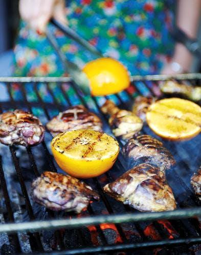 hauts de cuisse grillés à l'orange