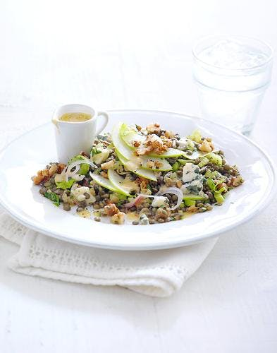 salade de lentilles à l'auvergnate