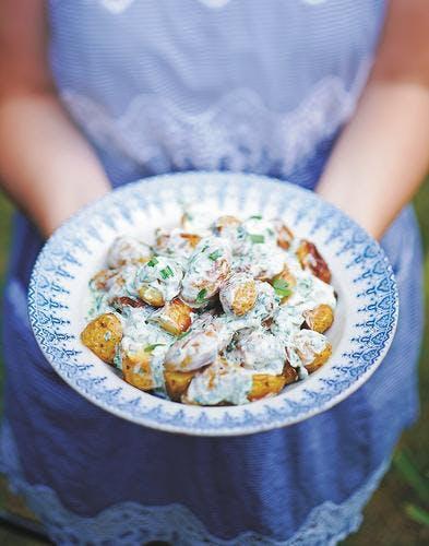 salade de grenaille à la crème