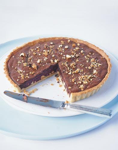 tarte au chocolat et aux noisettes