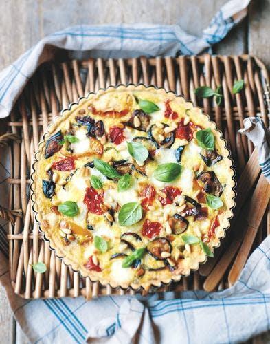 tarte d'été aux légumes grillés