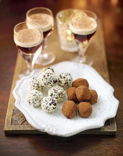 duo de truffes au chocolat noir