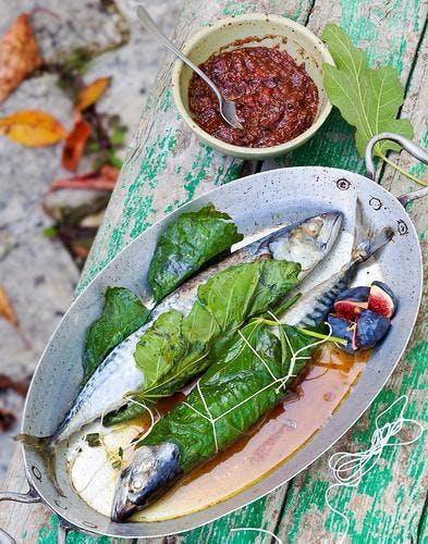 Maquereaux farcis à la tapenade de figues