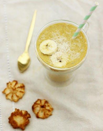 Golden Milk : smoothie banane & curcuma