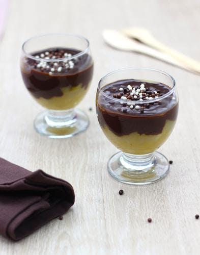 Compotée de poires & ganache au chocolat