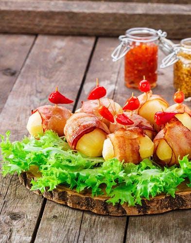 Pommes de terre au lard et au laurier