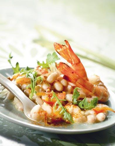 Salade tiède de cocos et roquette