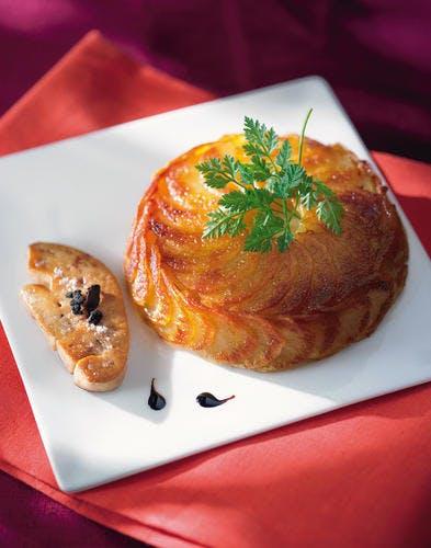 Gâteaux de pommes de terre au foie gras poêlé