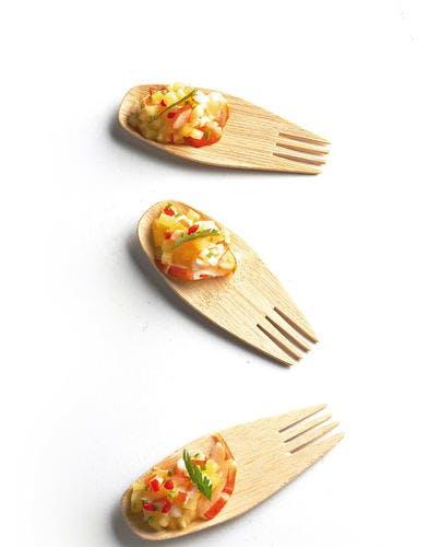 Tartare de crevettes à l'ananas