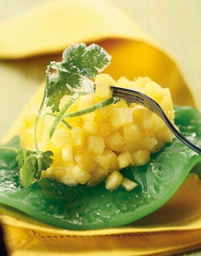 ananas à la coriandre cristallisée