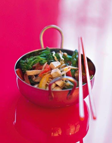 Wok de légumes au tofu