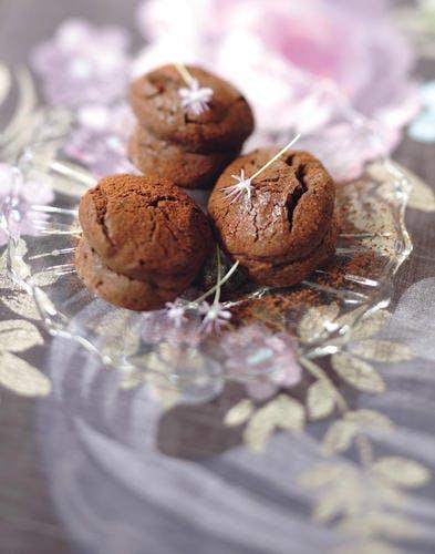 Mini-moelleux au chocolat, miel et menthe