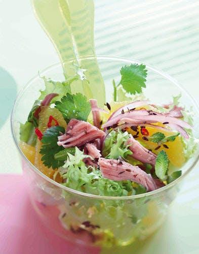 Frisée et palette en salade orientale