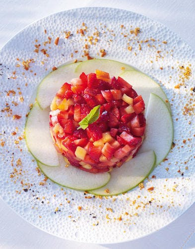 Brunoise de fraises au basilic et à l'orange