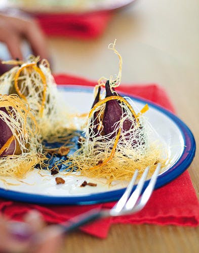 Figues rôties en robe de kadaïf