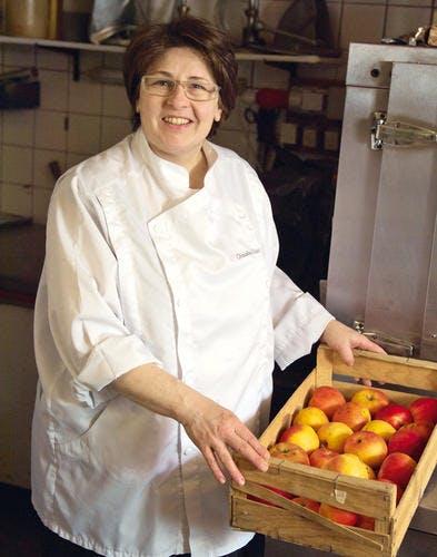 Fine tarte sablée aux pommes et aux amandes christine