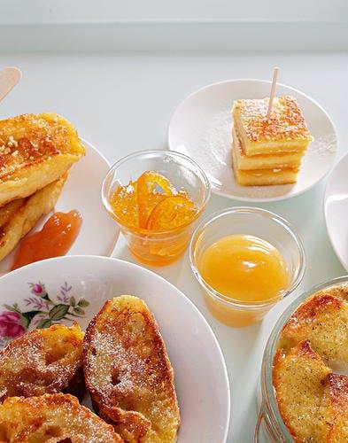 Bouchées de pain perdu au thé earl grey
