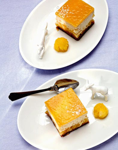 Cheesecake ananas, noix de coco, miel de citronnier