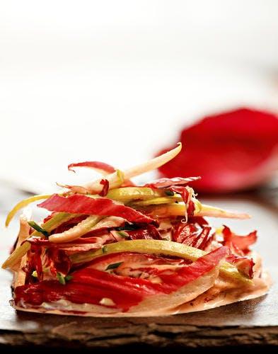 Rémoulade de carmine et pomme verte