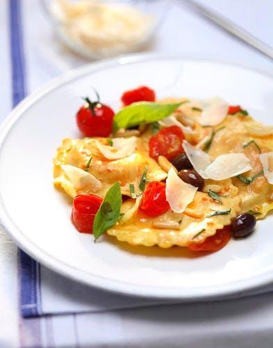 Raviolis aux tomates cerise
