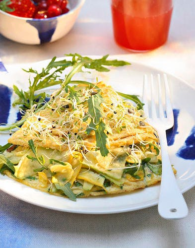 Omelette aux légumes croquants