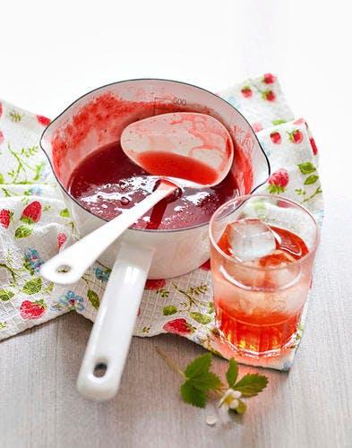 Sirop de fraises prepa