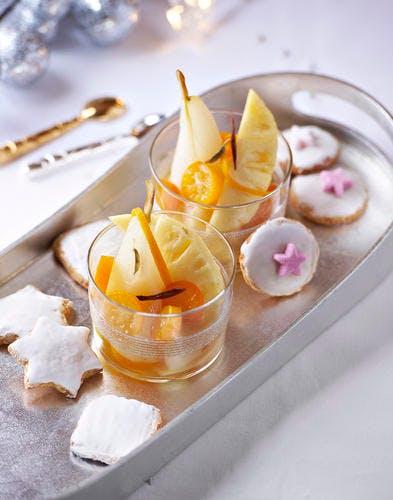 Fruits rafraîchis aux épices douces