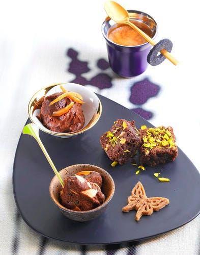 Petits gâteaux chocolat-the