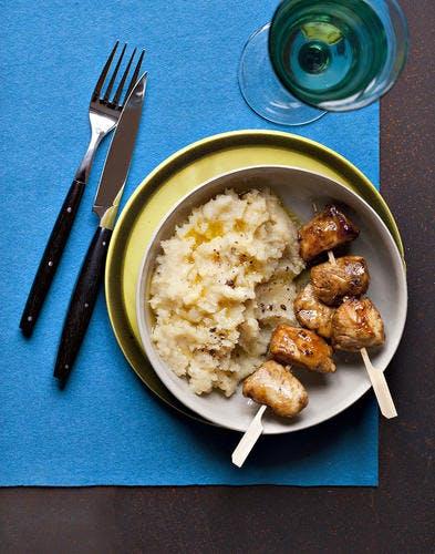 purée de panais et son poulet au sirop d'érable