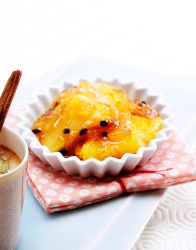 Salade d'ananas rôti au gingembre