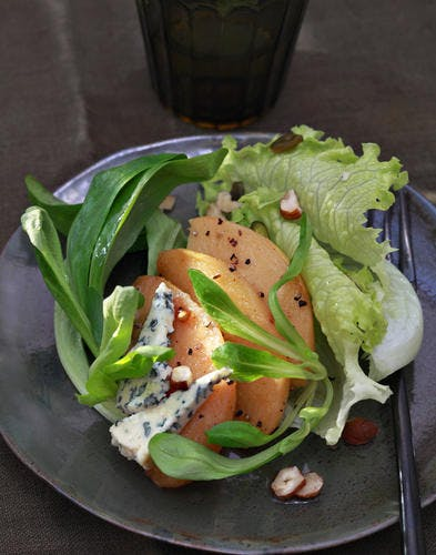 Salade aux coings confits