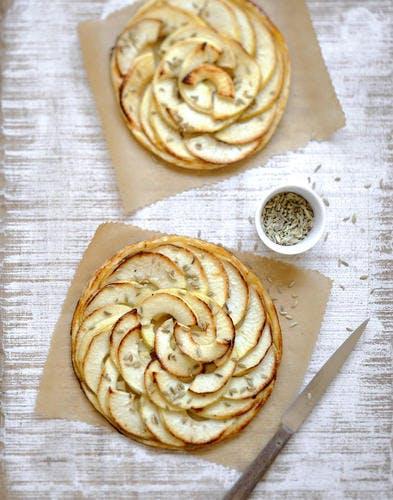 Tartelettes fines aux pommes et graines d'anis