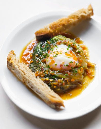 La laitue poêlée Choisy-le-Roi à l'œuf
