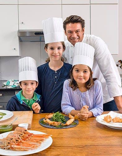 Lecon de cuisine d'Alain Pégouret - groupe