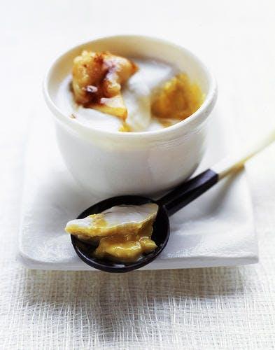 Crème à la noix de coco et à la mangue