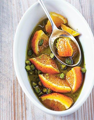Huile de pistache à l'orange