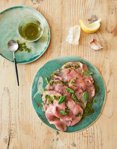 Carpaccio de veau à l'italienne