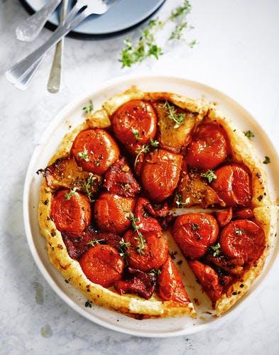 Tatin de tomate, gingembre et thym