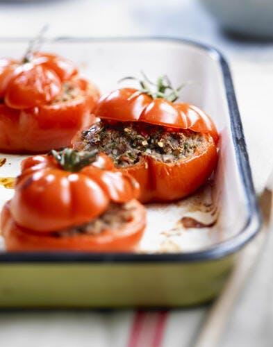 Tomates farcies légères au bœuf