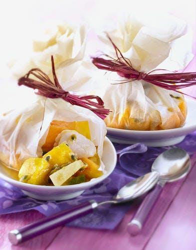 Papillotes de fruits exotiques