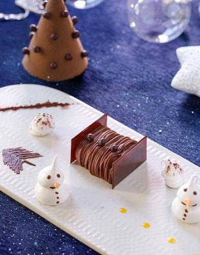 Mini-bûche chocolat, épices, passion