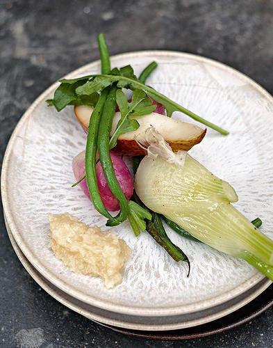 Cocotte de légumes à l'aïoli aux coings d'Armand Arnal