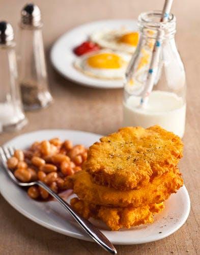 Corn griddle cakes - Crêpes épaisses de maïs