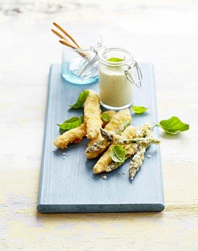 Tempura et beignets d'asperges