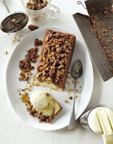 Gâteau noix de pécan et sirop d'érable