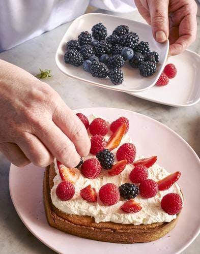 Gâteau sablé amande et fruits rouges
