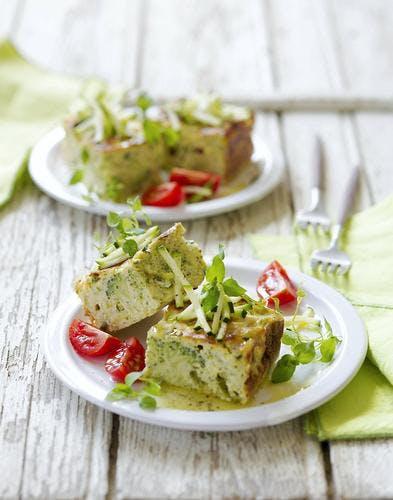Gâteau de courgettes et brocolis